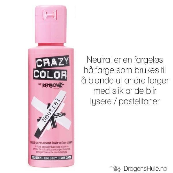 Hårfarge: Neutral Mixer 100ml -Crazy Color (til å blande med)