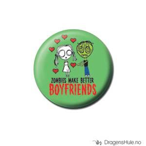 Bilde av Button 25mm: Eve L. -Zombies make better boyfriends