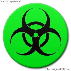 Bilde av  Button: Biohazard (velg farge)