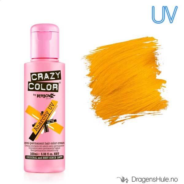 Hårfarge:  UV Anarchy Orange -Crazy Color